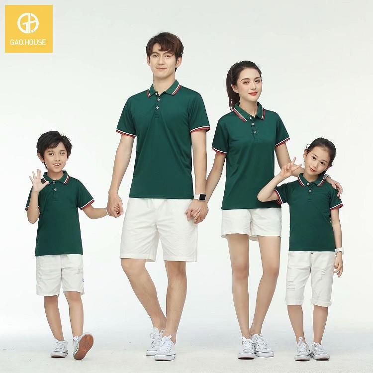 Áo thun cổ bẻ gia đình mang đến sự thoải mái, dễ chịu cho người mặc