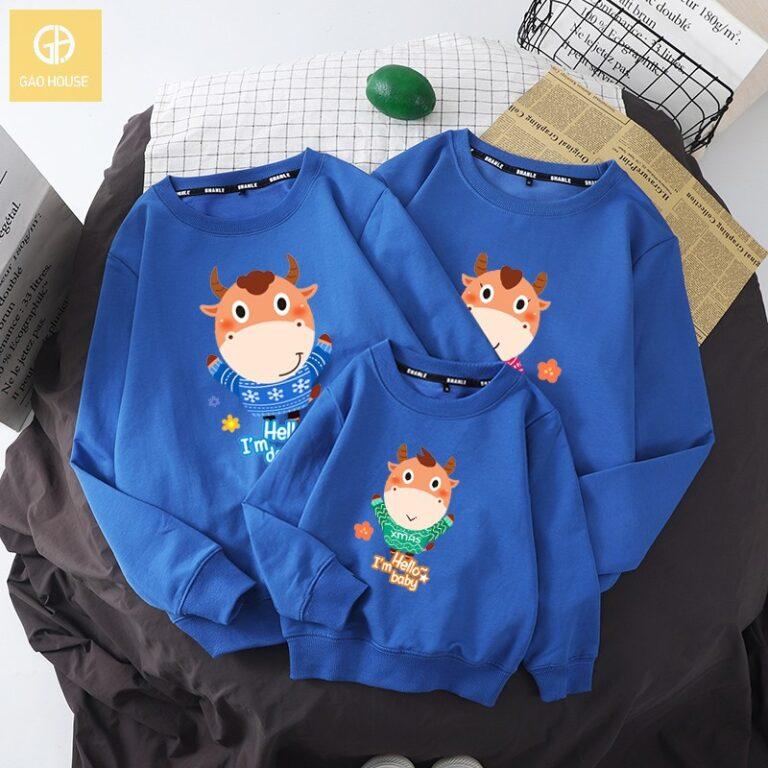 Đồng phục gia đình tết kiểu áo hoodie